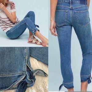 AMO ANKLE TIE Cropped Capri Denim IT Jeans…